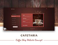 Cafeteria Web Design Concept - Volume 3
