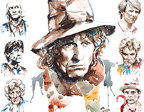 Classic Doctor Who Portraits