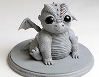 3D Sculpture - Baby Dragon