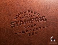Embossed Leather Logo Mockup – Free PSD Mockups