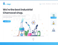 Industrial Chemical Shop website template UI/UX design