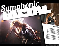 Symphonic Metal - magazine feature spread design