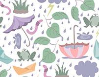 """Monsoon Fun"" - Seamless Surface Pattern"