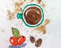 Watercolor Journal: Coffee