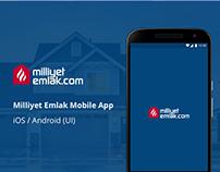 Milliyet Emlak Mobile App - UI Design
