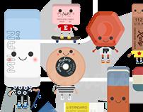 XIX ERASERs Character Design