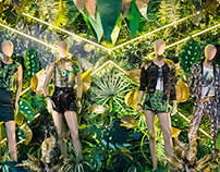 Jungle BAFWEEK 2014 Window Display // FALABELLA