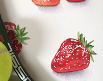 Inspired by Wimbledon - Watercolour Strawberries