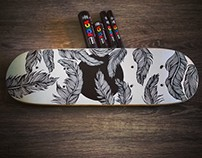18x5 inch Skateboard Deck Illustration