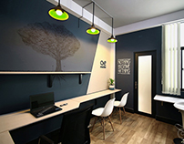 AE media 's identity and office designs