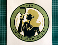 Wine Mom Club Print