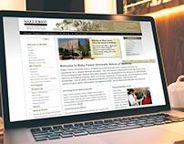 Wake Forest School of Medicine - Web Design 2004