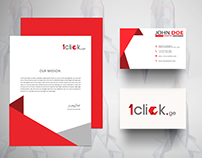 Branding 1 click.ge Microfinance Organization