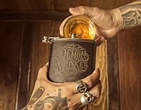 Demon Whiskey Flask