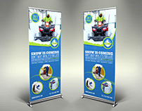 Snow Removal Service Signage Banner Roll-Up Template