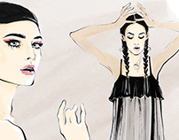 Illustrations for Harper's Bazaar Russia