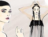 Illustrations for Harper's Bazaar Russia