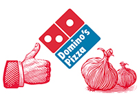 Domino's Pizza Box Illustrations by Steven Noble