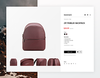 Mango product page design concept (using Golden Ratio)