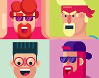 Animated GIF flat character