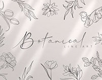 Free Botanical Collection - Line Art