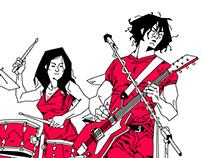 Rock stars illustrations