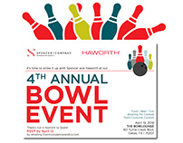 Spencer + Company's 4th Annual Bowl Event - Design