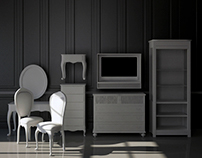 Pack Furniture 3D Model