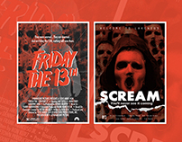 Friday the 13th & Scream art posters