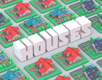 Low Poly Houses | Download 3D Models