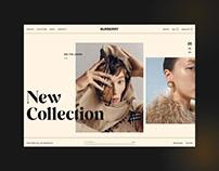 Burberry Concept Website Design