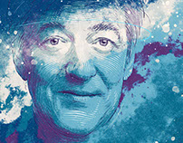 Portrait of Stephen Fry for Apple