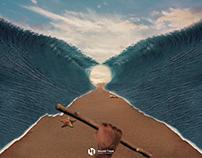 فَأَوْحَيْنَا إِلَىٰ مُوسَىٰ أَنِ اضْرِب بِّعَصَاكَ