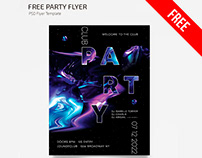 FREE PARTY FLYER TEMPLATE IN PSD + AI
