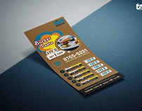 Free Food Hood Rack Card Design Template