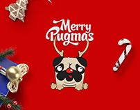 Merry Pugmas - Illustration