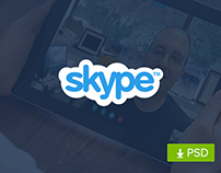 (Free PSD) Skype Website Redesign