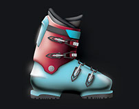 Ski Boot Renderings