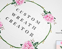 Custom Wreath Creator With Flowers