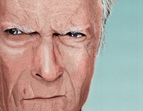 Clint Eastwood Portrait