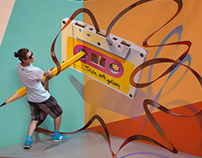 Cassette, Trick Art Exhibition, 2017