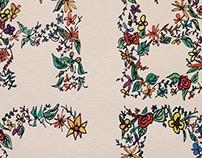 floral type sketch