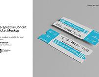 Perspective Concert Ticket Mockup