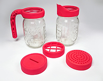 3D Printed Mason Jar Accessories
