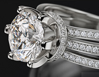 Jewelry Engagement Ring 3D Design & Animation 360 spin.
