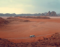 Bus. Wadi Rum.