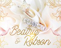 Convite de Casamento - Beatriz e Robson