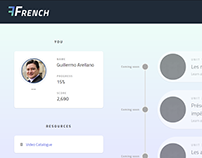 French Courseware Application
