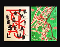 Poster & Map Design / risograph