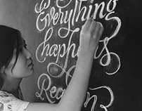 Chalk Lettering - Everything Happens for a Reason
